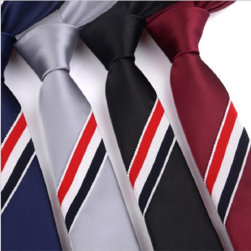 Hand Tie Strips Black Neckties For Men Women Polyester Skinny 5cm Ties Business Leisure