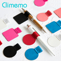 3pcs/lot Pen Clip, PU Leather Pen Holder Self-adhesive Pencil Elastic Loop for Notebooks Journals Clipboards porta penn