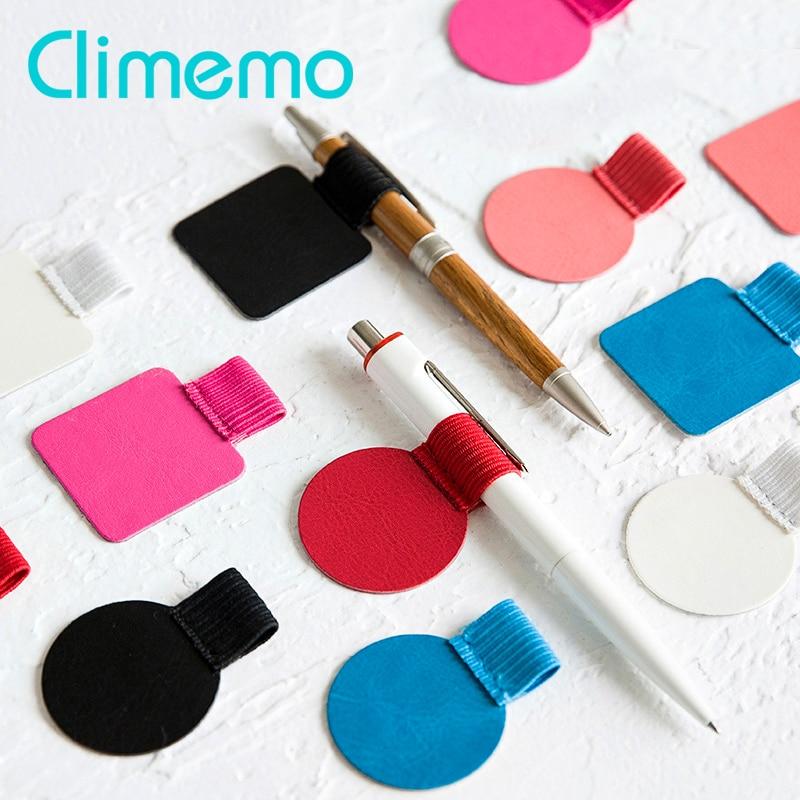 3pcs/lot Pen Clip, PU Leather Pen Holder Self-adhesive Pencil Elastic Loop For Notebooks Journals Clipboards Porta Penn