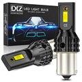 DXZ 2 шт. 1156 S25 BA15S P21W светодиодный 1157 T15 T20 T25 светодиодный Canbus 2SMD 1200LM 7440 3156 3157 задний указатель поворота автомобиля тормозных светильник лампочк...