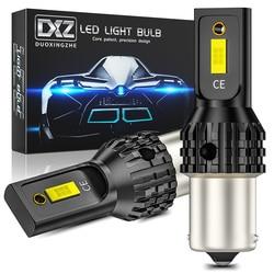 DXZ 2pcs 1156 S25 BA15S P21W LED 1157 T20 T25 2-SMD 1200LM 7440 3156 3157 Sinal de Volta Do Carro LEVOU Canbus Luz de Freio Reverso Lâmpada