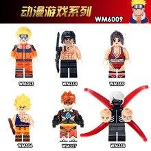 WM6009 Single Sale Building Blocks Naruto Japanese Anime Action Uzumaki Son Goku Tracer Kaneki John.Rambo For Children Toys DIY
