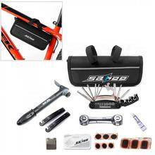цена на SAHOO Bicycle Repair Tools Frame Tube Bag Mini Pump 16 in 1 Multifunction Tool Tyre Tire Cycling Bike Tools Kits