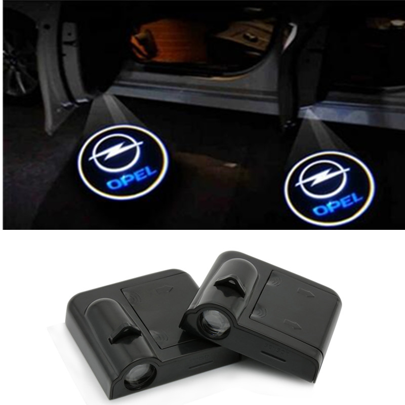 2x LED Car Door Logo Light Welcome Ghost Shadow Projector Laser Lamp For KIA RIO K2 Volvo For Hyundai Lexus Chevrolet MG OPEL