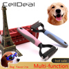 Hair Removal Comb for Dogs Cat Detangler Fur Trimming Dematting Deshedding Brush Grooming Tool For matted Long Hair Curly Pet- 1