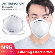 IN STOCK FDA 20pcs N95 Mask Bacteria Proof Mask 4 Layer Filter Anti-dust Pollution Masks Mouth Nose Proof Protective Face Masks