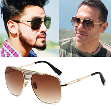 2020 New fashion men's frog mirror brand Aviation sunglasses