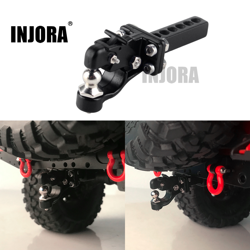 INJORA RC Car Metal Trailer Tow Hook For 1/10 RC Crawler Traxxas TRX4 Axial SCX10 90046 D90 Redcat Upgrade Parts