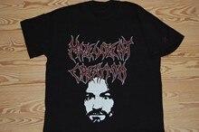 Wrogie stworzenie. Koszula nekrolog Deicide Bolt Thrower Immolation śmierć O-Neck T SHIRT Men 4050P