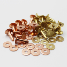 Wholesale rivets for leather with burrs brass/copper