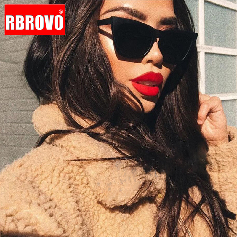 RBROVO 2019 plástico Vintage de gafas de sol de lujo Color caramelo mujer gafas de mujer T/clase camisa/Camiseta tipo mujeres de suave camiseta ser amable de viaje al aire libre gafas de sol de mujer