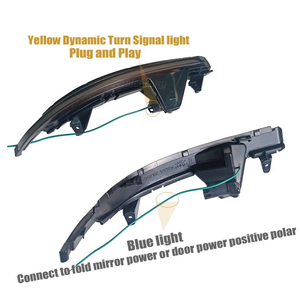 For Audi A7 S7 RS7 2010-2017 Mirror Flasher Light LED Dynamic Turn Signal Light