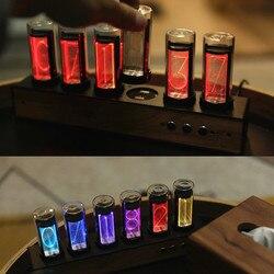 Светодиодные цифровые часы Nixie, 6 бит, RGB, набор электронных настольных часов в стиле ретро, 5 В, с питанием от Micro USB