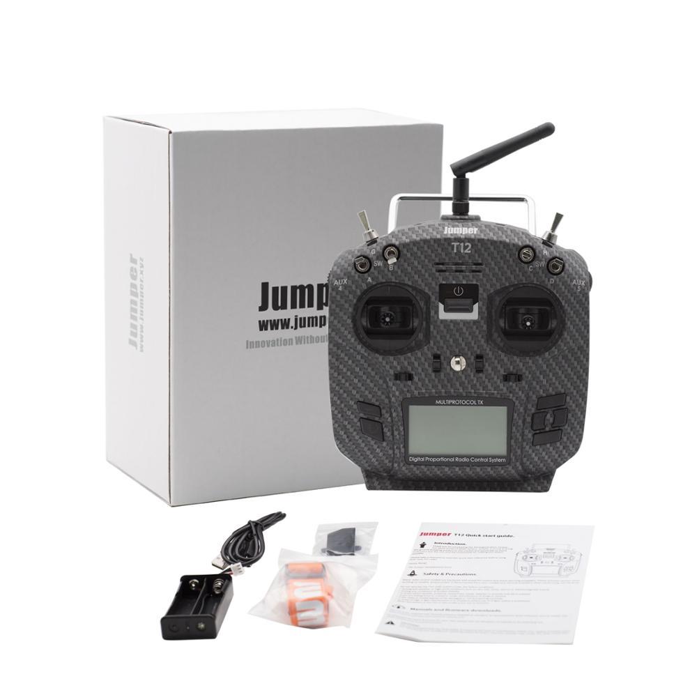 OpenTX Jumper T12 Pro 12ch Sensor de alta sensibilidad, JP4-in-1 cardán con transmisor de Radio, módulo de radiofrecuencia multiprotocolo