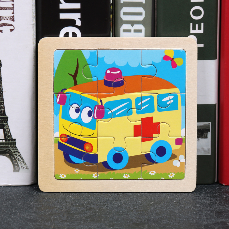 Wood Puzzles Children Adults Vehicle Puzzles Wooden Toys Learning Education Environmental Assemble Toy Educational Games 33