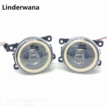 For Ford Focus Mk2/3 Fusion Fiesta Tourneo Transit 2001-2015 New Led Fog Lights 30W Angel Eyes Fog Lamp Assembly 2pcs car styling angel eyes drl lens fog lamps lighting led light for ford tourneo fusion fiesta c max focus grand tourneo australia