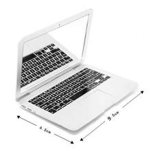 Draagbare Kleine Hoge Kwaliteit Mini Mac Make-Up Spiegel Voor Apple Notebook Macbook Vorm Air Apple Computer Draagbare Creatieve Spiegel(China)