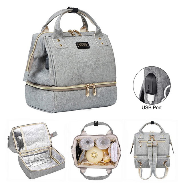 Diaper Bag Mummy Maternity Bags women's bag backpack multifunctional bag canvas unisex waterproof leakproof for lunch travel