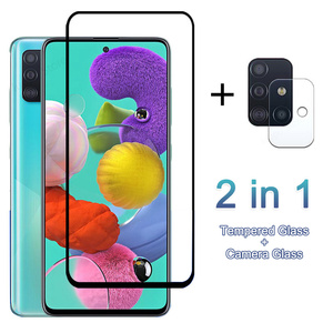 Full Cover Tempered Glass For Samsung Galaxy A51 A71 A40 A50 A70 S10 E S20 Plus Note 20 Ultra Camera Lens Screen Protector Glass(China)