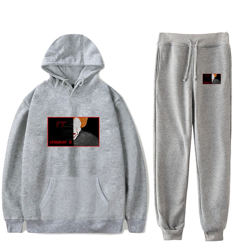 Hot Sales Clown Hui Hun 2 It-Chapter Two Hooded Sweater Ankle Banded Pants Sports Set
