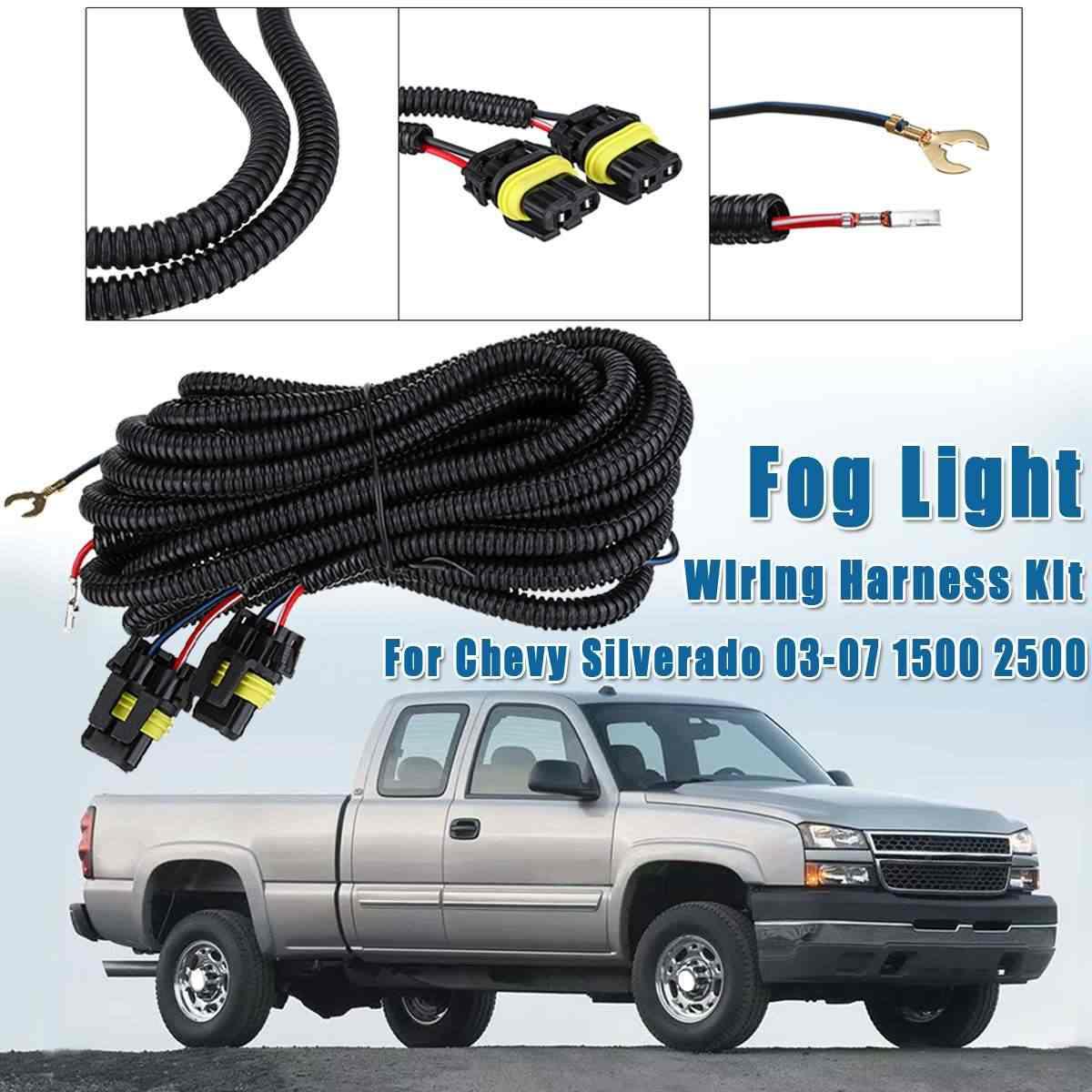[SCHEMATICS_4CA]  Fog Light Wiring Harness Socket Wire Connect Kit For Chevy Silverado 1500  2500 2003 2004 2005 2006 2007 Car Light Assembly 1PCS| | - AliExpress | 2007 Chevy Silverado Wiring Harness |  | www.aliexpress.com