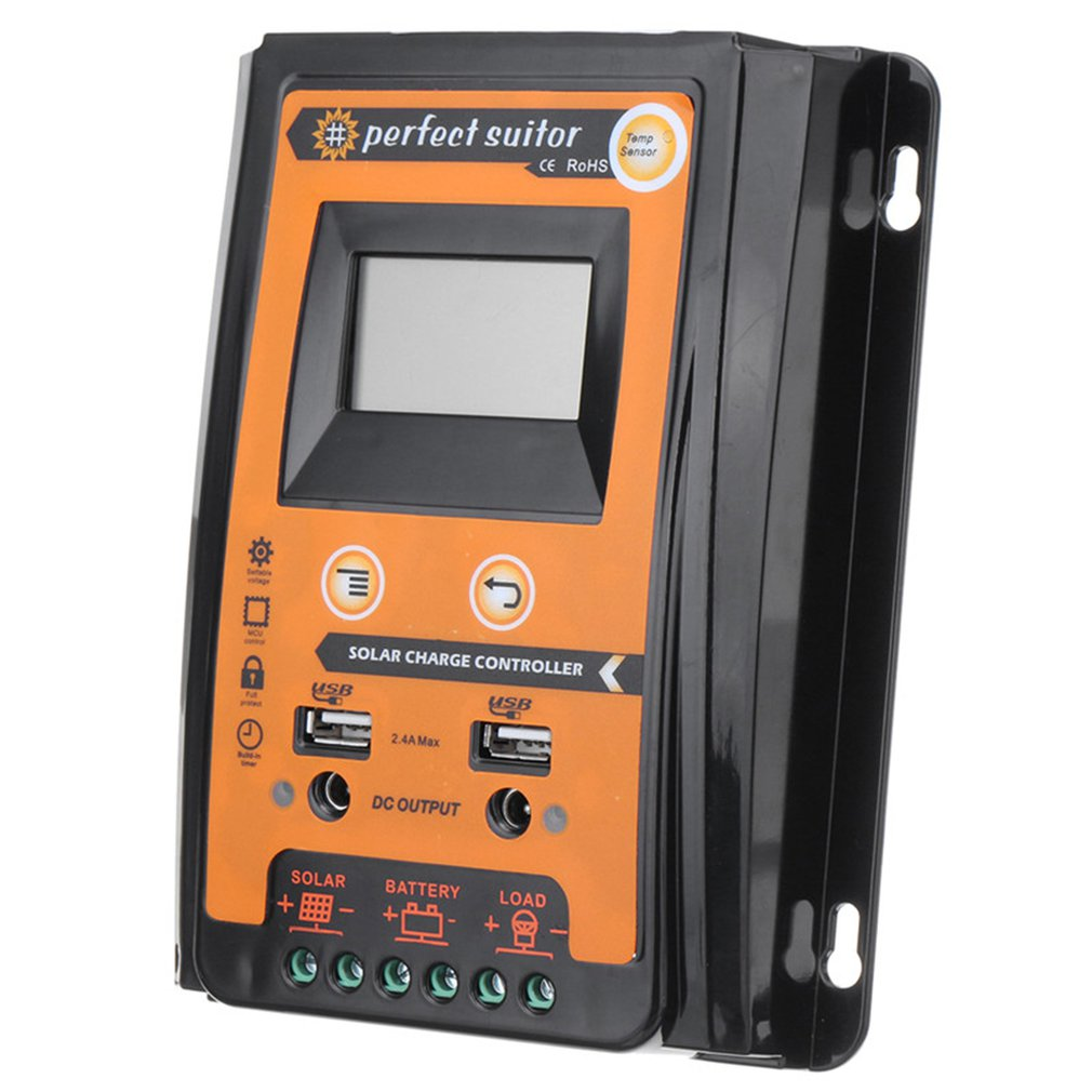 Charge Controller 30A 50A 70A MPPT Solar Charge Controller Solar Panel Battery Regulator Dual USB LCD Display