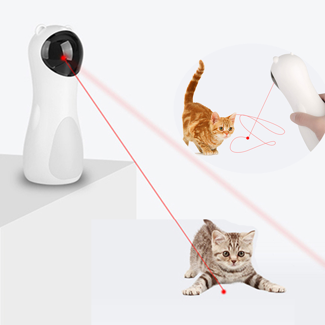 Cat Interactive Toy Automatic Cat Laser Pointer for Cats LED Laser Funny Toy USB/Battery Charging Pet Training Exercise Chaser 1