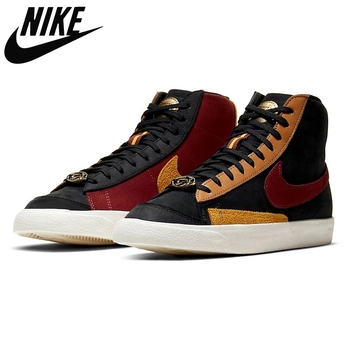 Authentic Nike Blazer Mid 77 Vintage Have A Good Day Dark mid-top casual sports skateboard shoes for men Unisex women Sneaker