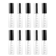 10 Pcs 30Ml Transparent Scale Glass Spray Bottle Portable Perfume Sub-Bottle Travel Lotion Fine Mist Bottle(China)