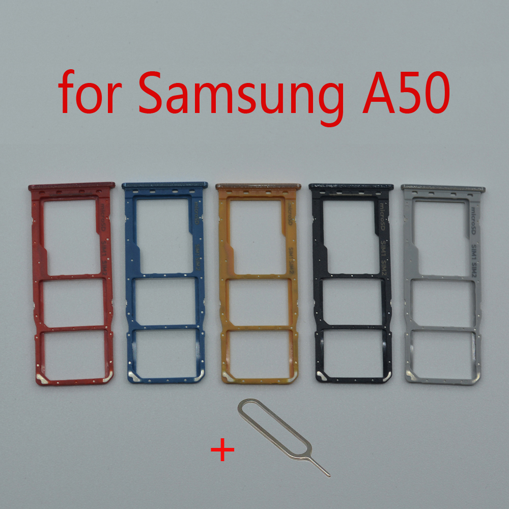 SIM Card Tray Holder For Samsung Galaxy A50 A505F A505FM A505FN Original Phone New Micro SD Card Slot Adapter Repair Parts