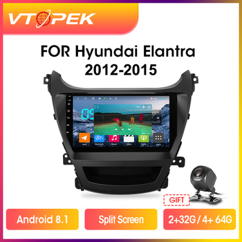 Vtopek 2din 4G+Wifi Android Car Radio Multimedia Video Player DSP For Hyundai Elantra 2012-2015 Navigation GPS Head Unit 2 din