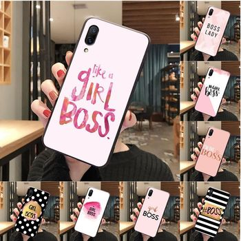 Boss lady Girl power High Quality Phone Case for vivo y53 y55 y66 y67 y69 y71 y75 y79 y81 y91 case image