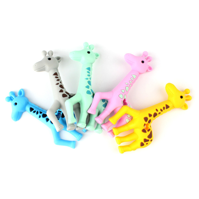 Keep&Grow 1pcs Baby Animal Silicone Teethers Dog Dinosaur Koala Baby Teething Product Accessories For Pacifier Chains BPA Free 3