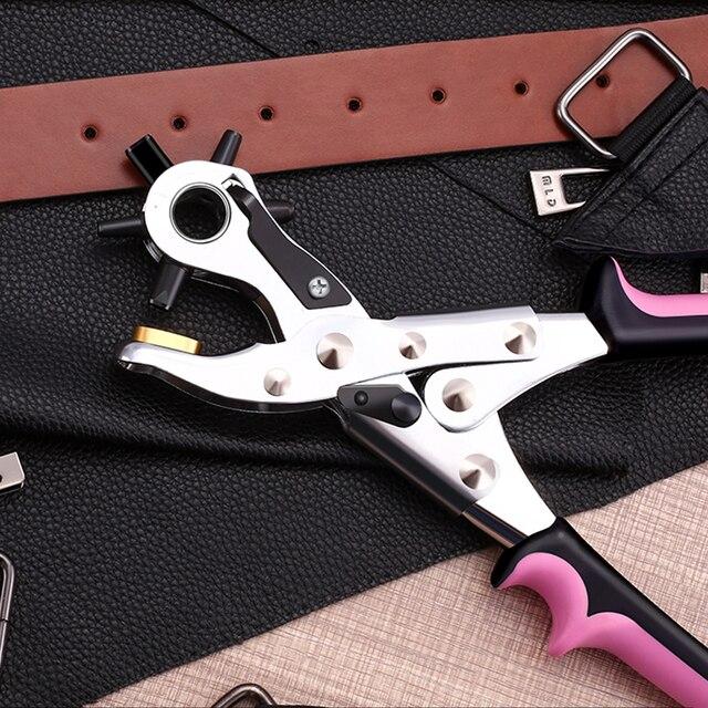 Haushalt Punch Zange Loch Stanzen Maschine Runde Loch Locher Werkzeug Machen Loch Puncher Für Armband Karten Leder Gürtel