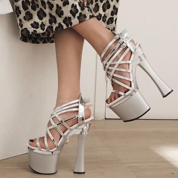 Sarairis Dropship Super High Heeled women's Shoes Sexy Party Banquet Platform Gladiator Summer Sandals Woman