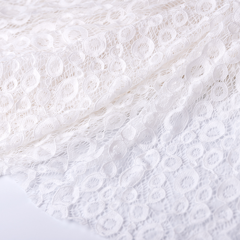 Cusack Lace Fabric White Mesh Embroidered 100 x <font><b>150</b></font> cm for Women Dress Costumes Trimmings Sewing DIY Cotton Polyester image