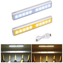 Światła podszawkowe LED lampa z czujnikiem ruchu PIR 10 20 24 30 40 60 LED lampka nocna z USB oświetlenie kuchenne do szafy szafy schody tanie tanio OMSPY 50000hrs Aluminium Motion Sensor Closet Lights Akumulator White Warm white 10LEDs 20LEDs 24LEDs 30LEDs 40LEDs 60LEDs