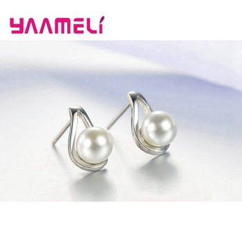 925 Sterling Silver Jewelry Sets for Women Girls Wedding Engagement Cute Pearl Waterdrop Shape Best Gift for Beloved