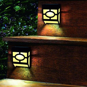 Solar Zaun Lichter, 2 Modi Solar Led Outdoor Wand Leuchten Für Deck, Zaun, Terrasse, front Tür, Treppen, Landschaft, Hof Und Einfahrt
