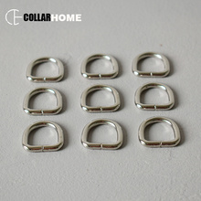 20pcs Metal Buckles Non-Welded D Ring For 15mm Webbing Dog Collar Backpack Straps Bag shaped buckle DIY Pet Supplies Accessory