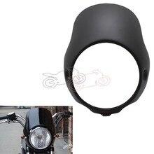 5 pezzi faro griglia copertura 6,3Retro moto Grill Side Mount faro copertura della lampada maschera Cafe Racer Fit maggior parte delle motociclette