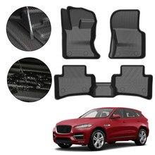 Totalmente cercado almofada de pé para jaguar F-PACE 2016 2017 2018 2019 2020carro impermeável antiderrapante borracha piso tapete tpe acessórios do carro