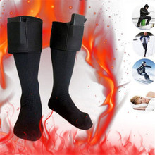 Battery Heated Unisex Electric Heating Long Socks Winter Feet Warmer Thermal Cotton Blend Socks Outdoor Sports Run Cycling Socks heating pads cold weather heated socks usb lithium battery cotton material leg warmers carbon fiber electric heated health care