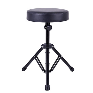 Taburete de Piano de alta calidad, silla redonda para teclado electrónico de Metal, altura de elevación de acero ajustable