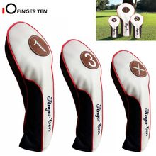 Golf Head Covers Wood Driver Fairway Rescue Club Cover Deluxe Synthetic Leather 1 3 X Headcover for Men Women(China)