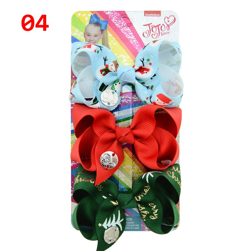 Christmas Baby Hair clips Toddler Kids Girl Holiday Barrettes Hair Accessories 5Colors