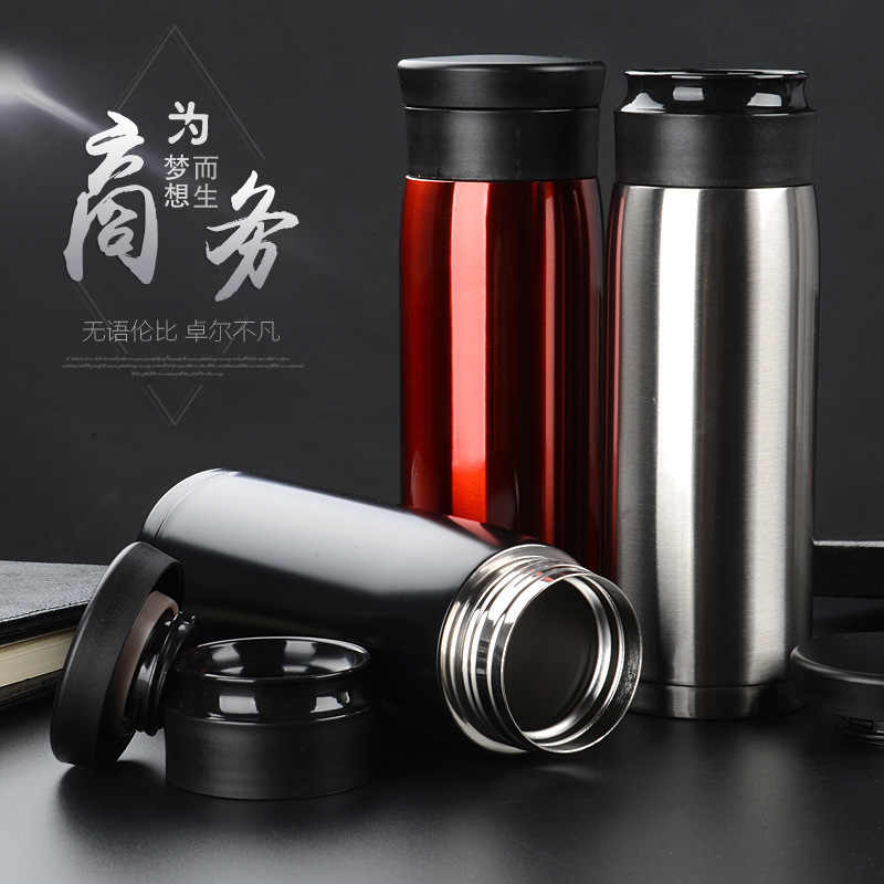 500ml Punk Keep-warm Fashion Stainless Steel termos thermos garrafa termica vacuum flaskWater Bottle Double Wall