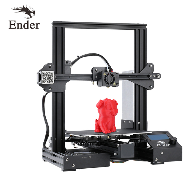 $ US $239.00 Ender-3 PRO DIY Kit 3D printer Large Print Size Ender-3Pro printer 3D Continuation Print Power 220*220*250mm Creality 3D