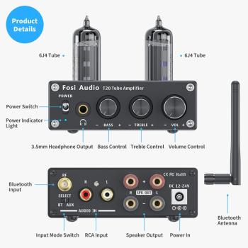 Power Amp Portable Headphone Amplifier For Home Passive Speakers 2