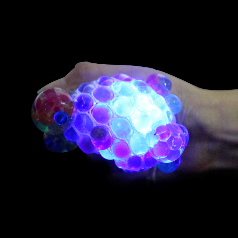 Funny LED Grape Mesh Ball Grape Squeeze Toy Relief Squeezing Toy Vent Ball Stress Exercise All The Cells Effectively Stressless